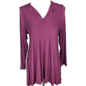 Soft Surroundings Tops - Soft Surrounding Petite Large Magenta Long Sleeve